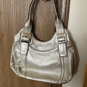 Pretty! LIKE NEW! Pewter Tagnanello shoulder bag.